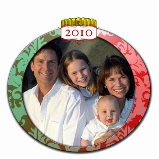 Ornamento 2010 del navidad de la foto de familia adorno fotoescultura
