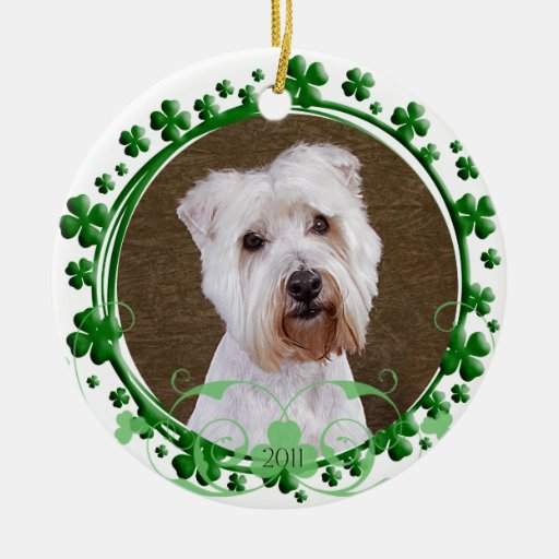 Ornamento 2011 del día de St Patrick de Mack Adorno Navideño Redondo De Cerámica