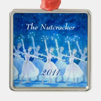 Ornamento 2011 - premio del ballet del cascanueces adorno navideño cuadrado de metal