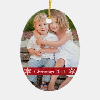 Ornamento 2012 del recuerdo de la foto del navidad ornamento de reyes magos