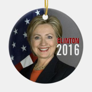 Ornamento 2016 del árbol de navidad de Clinton Adorno Navideño Redondo De Cerámica