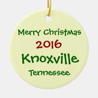 ORNAMENTO 2016 del NAVIDAD de Knoxville Tennessee Adorno Navideño Redondo De Cerámica