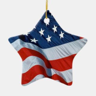Ornamento 2 de la bandera americana ornamentos de navidad