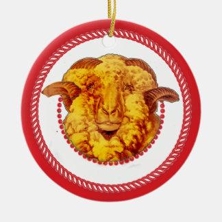 Ornamento #2 del espolón del árbol de Jesse Adorno Redondo De Cerámica