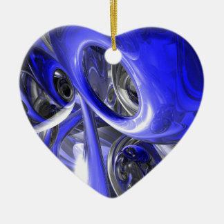 Ornamento abstracto cerúleo ornamento de navidad