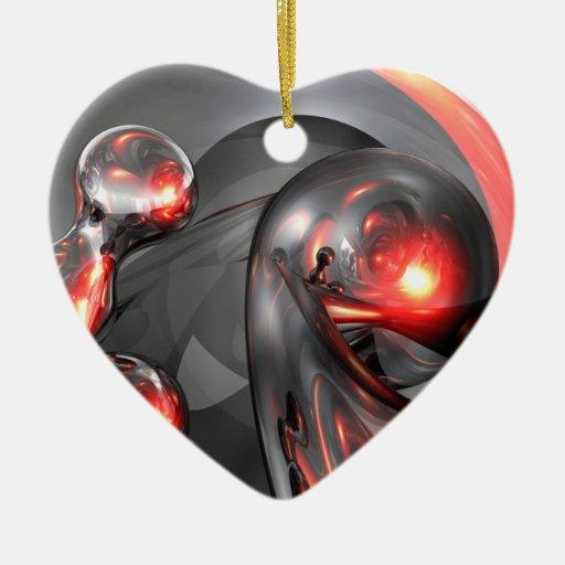Ornamento abstracto de levantamiento de Mercury Ornamento De Navidad