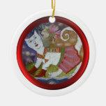 Ornamento abstracto del gato adorno de navidad
