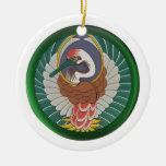 Ornamento abstracto del pájaro ornamento de navidad