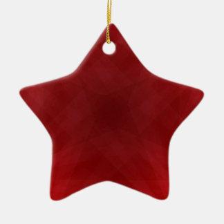 Ornamento abstracto rojo de la estrella del ornamente de reyes