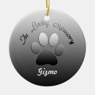Ornamento adaptable conmemorativo del mascota adorno navideño redondo de cerámica