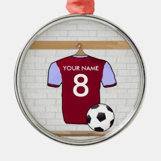 Ornamento adaptable de la estrella de la camisa adorno navideño redondo de metal