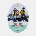 Ornamento adaptable de la foto de familia del aceb ornamento de navidad