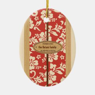 Ornamento adaptable de la tabla hawaiana del adorno