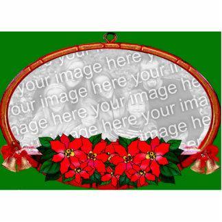 Ornamento adaptable del marco del navidad adorno fotoescultura