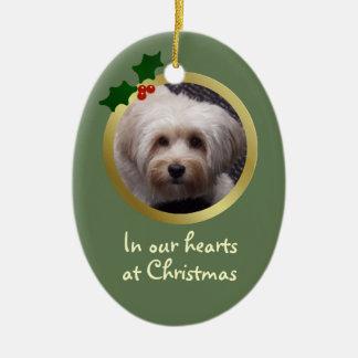 Ornamento adaptable del monumento del perro del na ornamentos de navidad