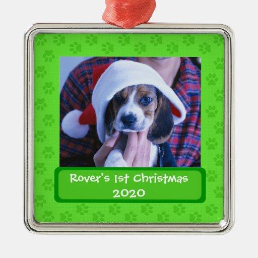Ornamento adaptable del navidad de la foto de las adorno navideño cuadrado de metal