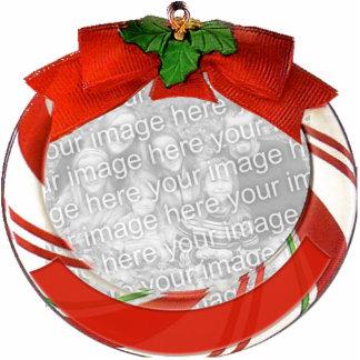 Ornamento adaptable del navidad fotoescultura vertical