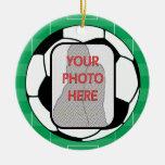 Ornamento adaptable del premio del balón de fútbol ornamentos de navidad