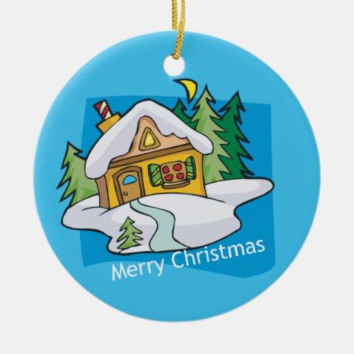 Ornamento adaptable festivo de las Felices Navidad Ornamento De Navidad