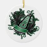 Ornamento adaptable negro y verde de la alegría ornaments para arbol de navidad