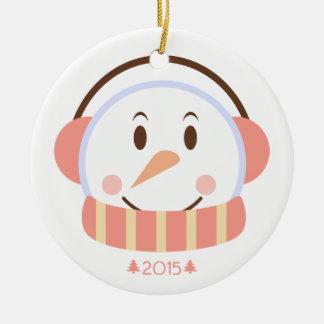 Ornamento adaptable principal del navidad del año adorno redondo de cerámica
