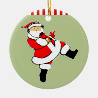 ornamento adolescente personalizado adorno navideño redondo de cerámica