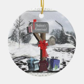 Ornamento adornado de la escena del invierno de ornamente de reyes