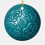 Ornamento afiligranado - trullo ornamento para arbol de navidad