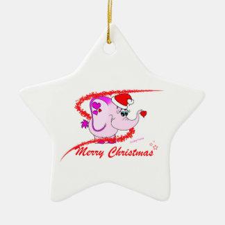 Ornamento afortunado de las Felices Navidad del Ornato