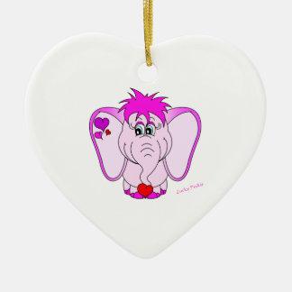Ornamento afortunado del corazón del meñique adornos