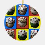 Ornamento afortunado del navidad de los gatos ornamentos de reyes magos