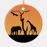 Ornamento africano de la silueta del sunet de la adorno de reyes