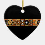 Ornamento africano del modelo adorno de navidad