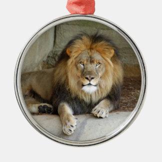 Ornamento africano del navidad del león ornamentos de reyes