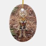Ornamento africano del navidad del Serval Ornamentos De Reyes Magos