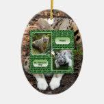 Ornamento africano del navidad del Serval Ornamento Para Arbol De Navidad