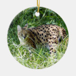 Ornamento africano del navidad del Serval Ornato