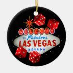 Ornamento agradable de Las Vegas de los dados Adorno De Navidad