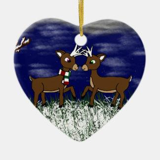 Ornamento alegre de los ciervos adorno para reyes
