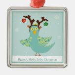 Ornamento alegre del chirrido del acebo ornamento para arbol de navidad