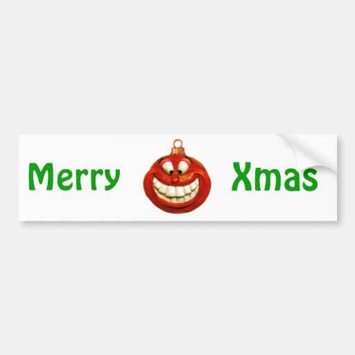 Ornamento alegre del navidad pegatina de parachoque