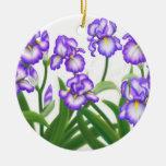 Ornamento alemán del iris barbudo ornamento para arbol de navidad