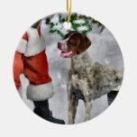 Ornamento alemán del navidad del indicador de pelo ornamento de navidad