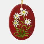 Ornamento alpino de las flores de Edelweiss del Ornamento Para Arbol De Navidad
