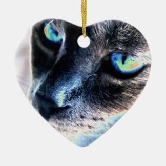 Ornamento alterado reservado del corazón del gato ornamento para arbol de navidad
