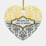Ornamento amarillo blanco de la aguamarina del neg adorno para reyes