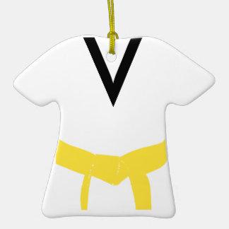 Ornamento amarillo de encargo del uniforme de la c adorno de reyes