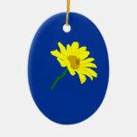 Ornamento amarillo de la flor adorno para reyes