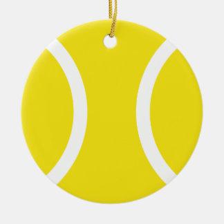 Ornamento amarillo de la pelota de tenis para el n adorno para reyes
