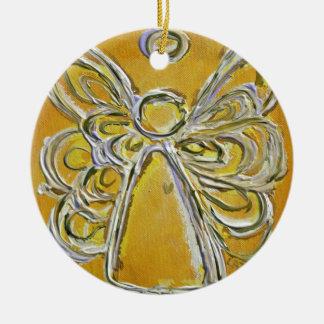 Ornamento amarillo de la pintura del arte del ánge ornamente de reyes